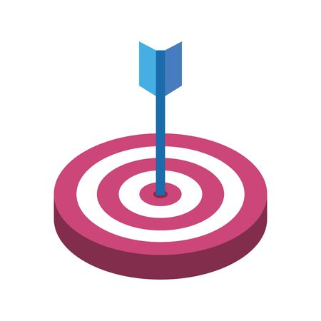 target with arrow isolated icon vector illustration design Vector Illustratie