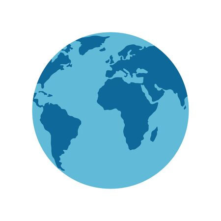 World sphere design, Planet continent earth world globe ocean and universe theme Vector illustration Çizim