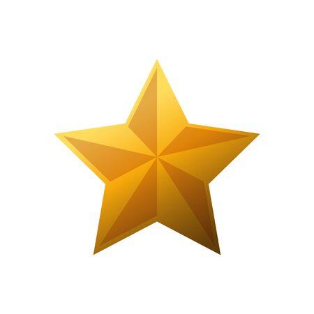 Conception de forme d'étoile, évaluation de style de succès de décoration et thème de qualité Illustration vectorielle