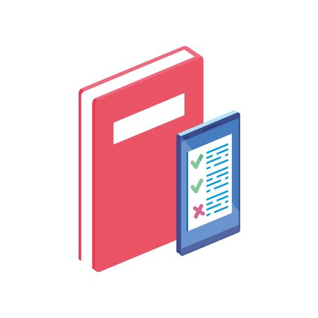 notebook with smartphone isolated icon vector illustration design Ilustrace