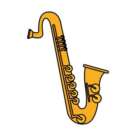 saxophone music instrument icon vector illustration design