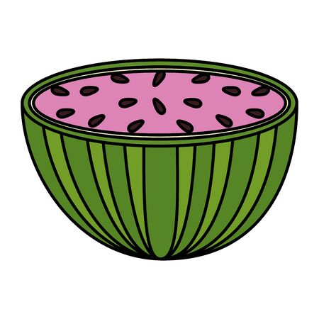 fresh watermelon slice tropical fruit vector illustration design 일러스트