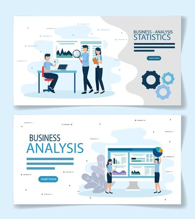 Workflow design, Infographic data information business analytics and visual presentation theme Vector illustration