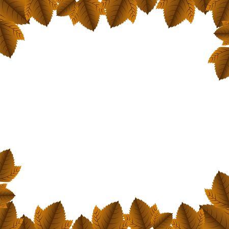 Autumn leaves design, season nature ornament garden decoration and botany theme Vector illustration Stock Illustratie