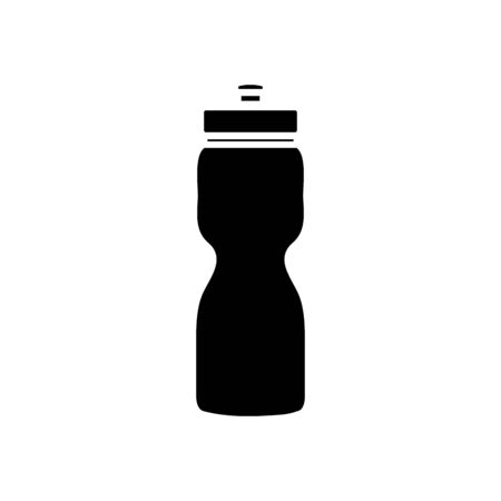 silhouette of bottle water plastic isolated icon vector illustration design