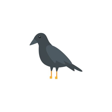 raven bird animal isolated icon vector illustration design