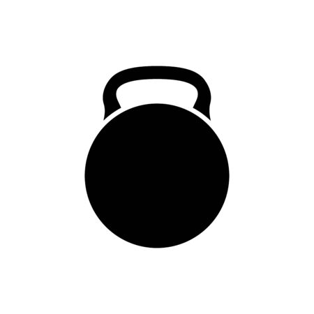 silhouette of dumbbell equipment gym isolated icon vector illustration design Ilustracja