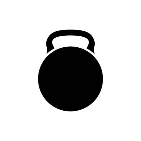 silhouette of dumbbell equipment gym isolated icon vector illustration design Illustration