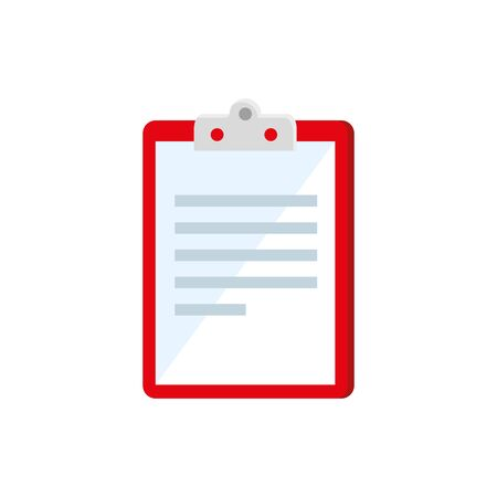 clipboard with paper document isolated icon vector illustration design Ilustrace