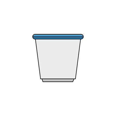 traditional chinese tea cup isolated icon vector illustration design