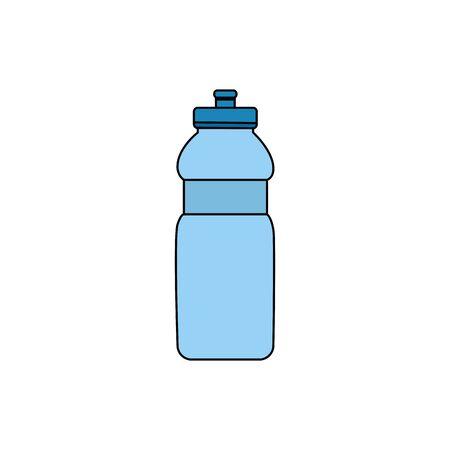 bottle water plastic isolated icon vector illustration design  イラスト・ベクター素材