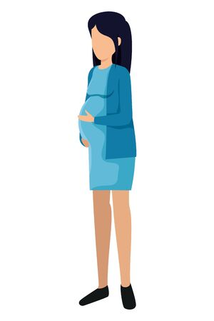 beautiful pregnancy woman avatar character vector illustration design Zdjęcie Seryjne - 134771316