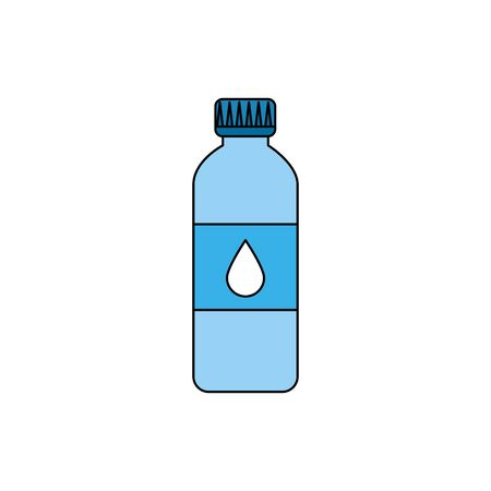 bottle water plastic isolated icon vector illustration design Illustration