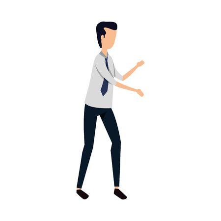 elegant businessman worker avatar character vector illustration design Illustration