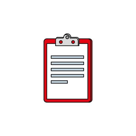 clipboard with paper document isolated icon vector illustration design Illusztráció