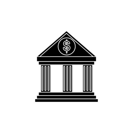 bank structure facade isolated icon vector illustration design Illustration