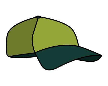 sport cap equipment isolated icon vector illustration design