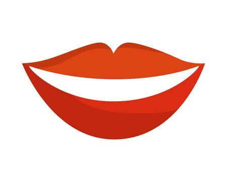 Labios de sensualidad mujer icono diseño ilustración vectorial