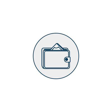 wallet money line style icon vector illustration design