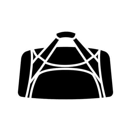 silhouette of handbag gym accessory isolated icon vector illustration design