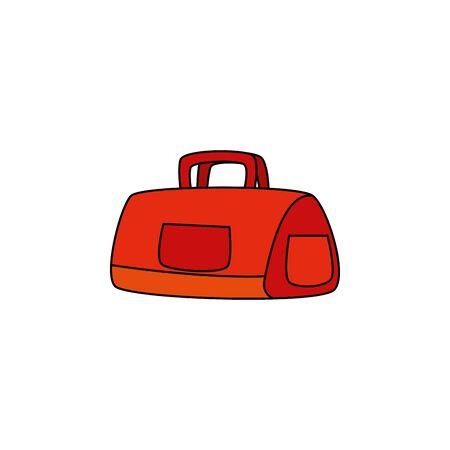 handbag gym accessory isolated icon vector illustration design Illustration