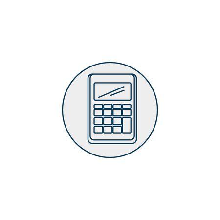calculator line style icon vector illustration design