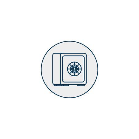 strongbox private line style icon vector illustration design
