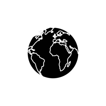 silhouette of world planet earth isolated icon vector illustration design