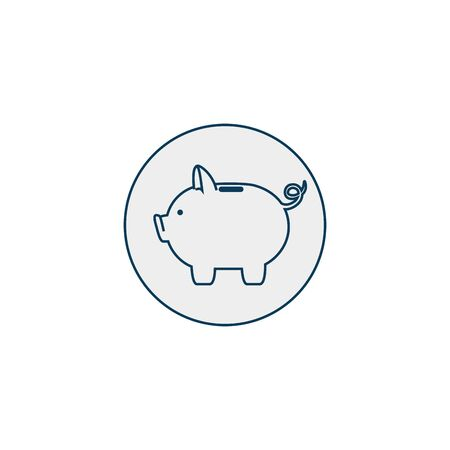 piggy bank line style icon vector illustration design