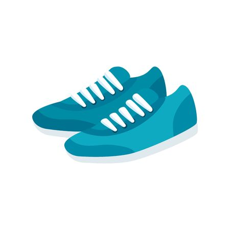 shoes of sport isolated icon vector illustration design