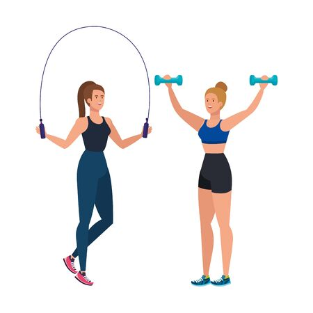 young women athlete avatar character vector illustration design Illustration
