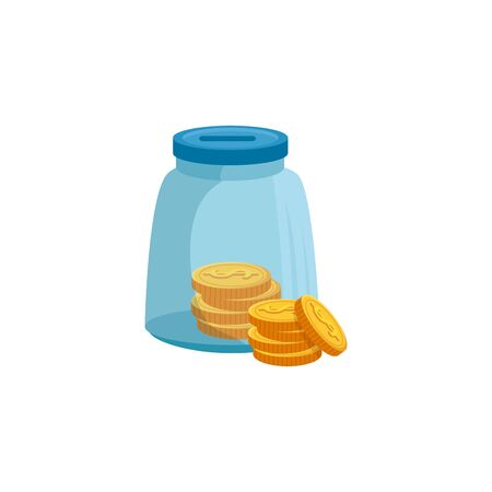 moneybox with coins isolated icon vector illustration design