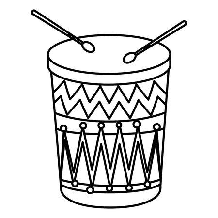 wooden drum instrument icon vector illustration design