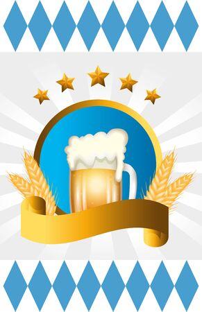 Oktoberfest beer design, Germany festival celebration europe landmark munich culture and party theme Vector illustration Foto de archivo - 134828021