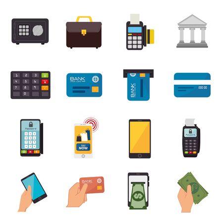 bundle of business set icons vector illustration design Stock Vector - 134830410