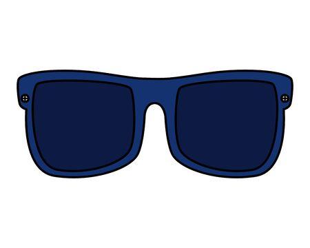 summer sunglasses accessory optical icon vector illustration design