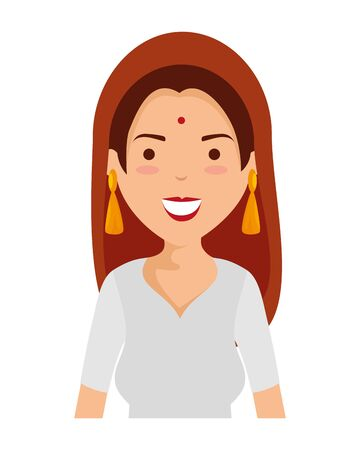 beautiful woman from india character vector illustration design