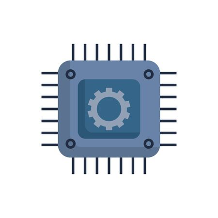 Gear and motherboard design, construction work repair machine part technology industry and technical theme Vector illustration Ilustração