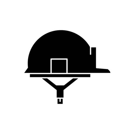 helmet design, Construction work repair reconstruction industry build and project theme Vector illustration Foto de archivo - 134851983
