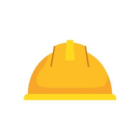 helmet design, Construction work repair reconstruction industry build and project theme Vector illustration Foto de archivo - 134851989