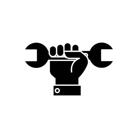 wrench design, Construction work repair reconstruction industry build and project theme Vector illustration