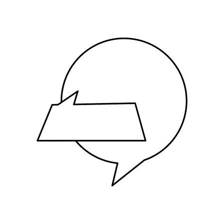 set of speech bubbles line style icon vector illustration design