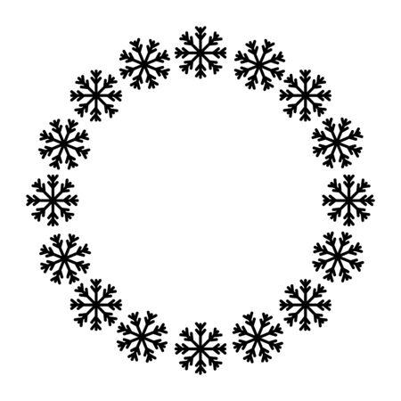 frame circular of snowflake christmas decoration vector illustration design Illusztráció