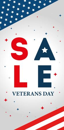 poster sale of veterans day celebration vector illustration design