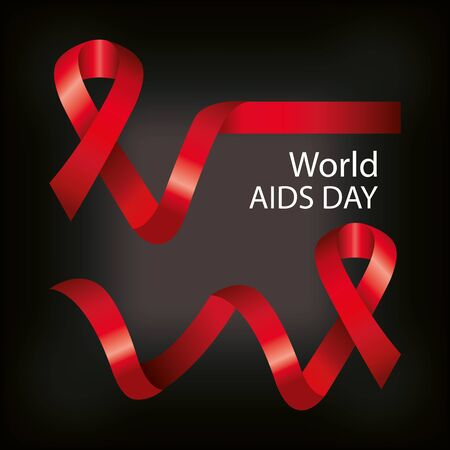 poster of world aids day with ribbons vector illustration design