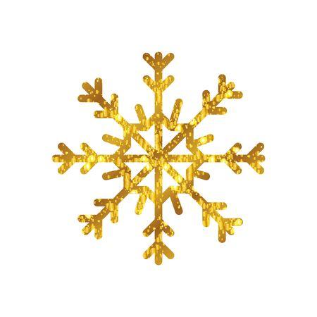 snowflake christmas decoration isolated icon vector illustration design Illusztráció