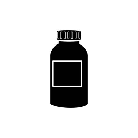 Vitamin jar design, Healthy lifestyle fitness bodybuilding bodycare activity exercise and diet theme Vector illustration