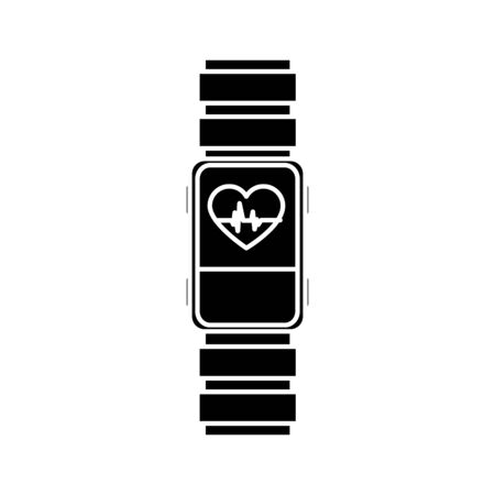 Heart rate watch design, Healthy lifestyle gym fitness bodybuilding bodycare activity exercise and diet theme Vector illustration