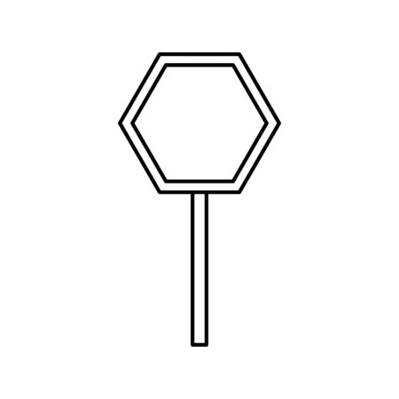 stick signage alert line style icon vector illustration design