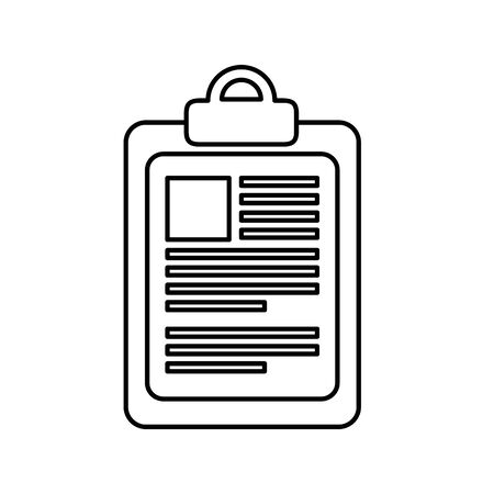 checklist clipboard document isolated icon vector illustration design